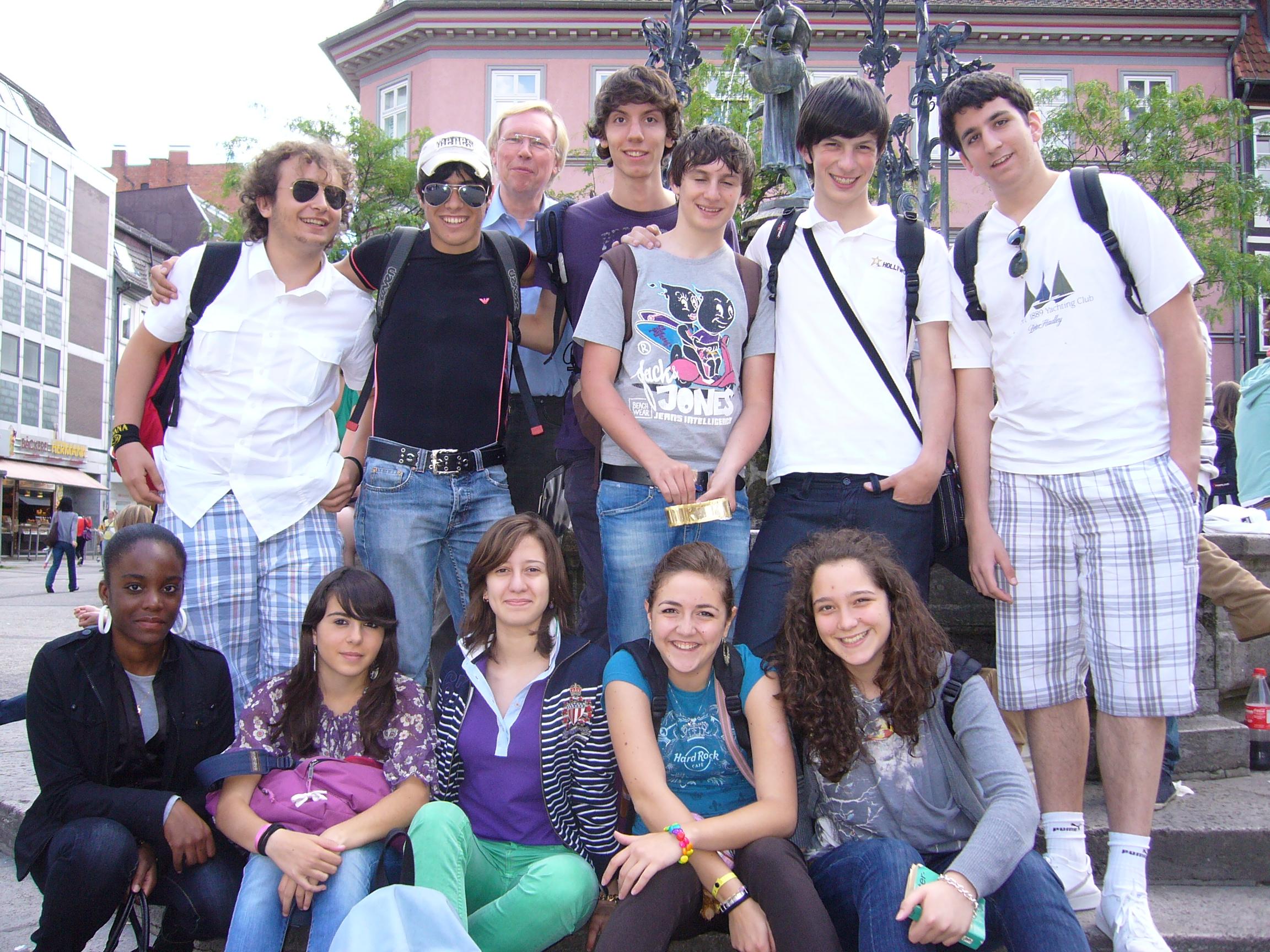 italienische Schüler in Göttingen