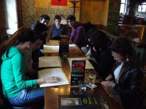 Das Studium der Speisekarte