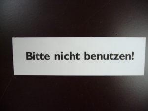 Bitte nicht benutzen!