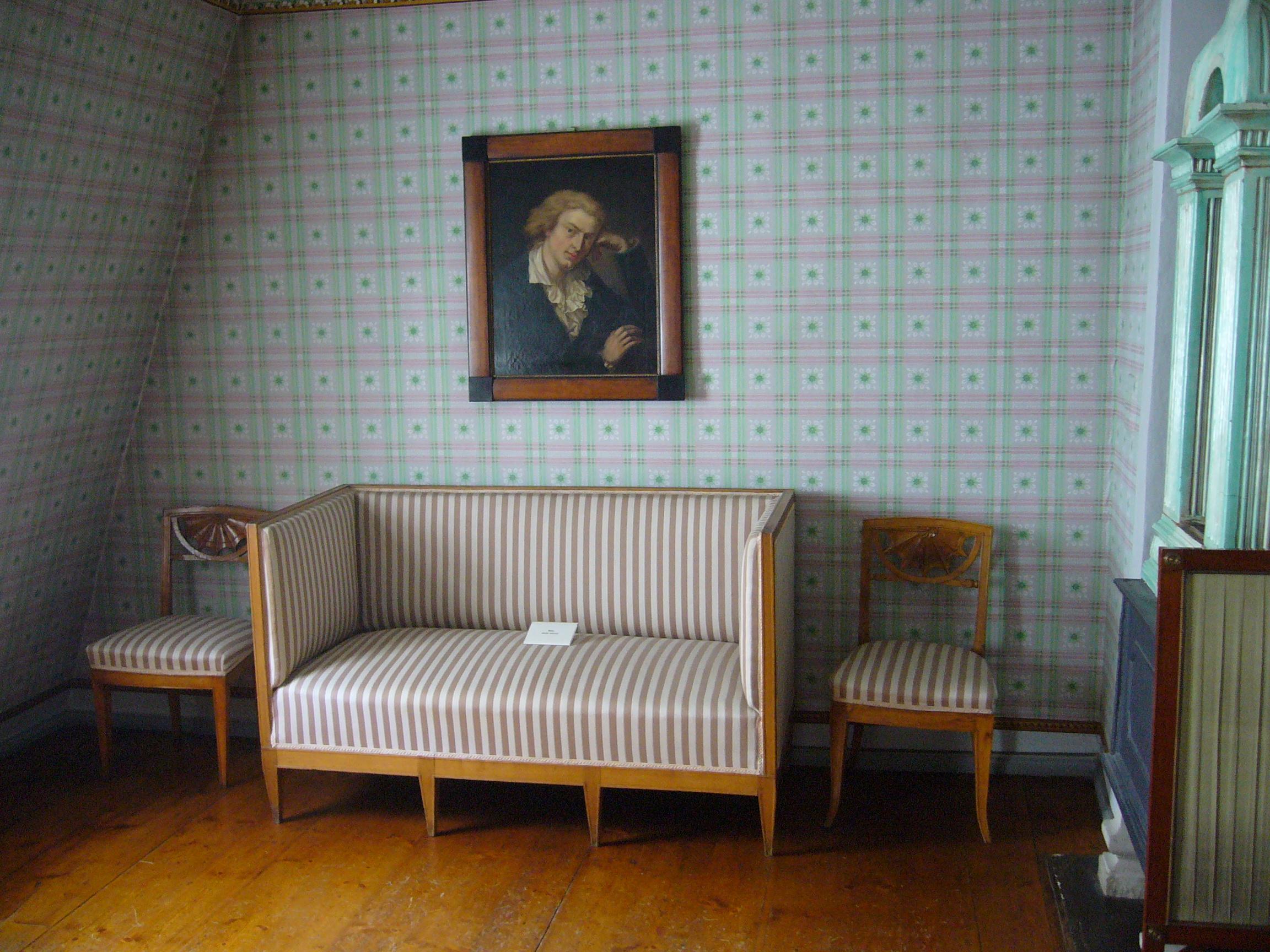 Dachzimmer in Schillers Haus