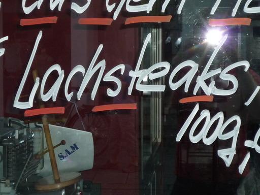 Lachsteaks im Angebot
